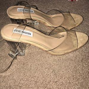 eeaf1ec4c981 Steve Madden Shoes - Steve Madden Camille Lucite Clear Block Heel
